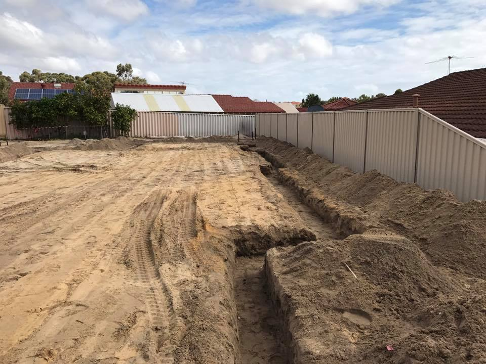 WA Mini Excavations - Narrow Access Earthmoving For Reclining Wall - Perth