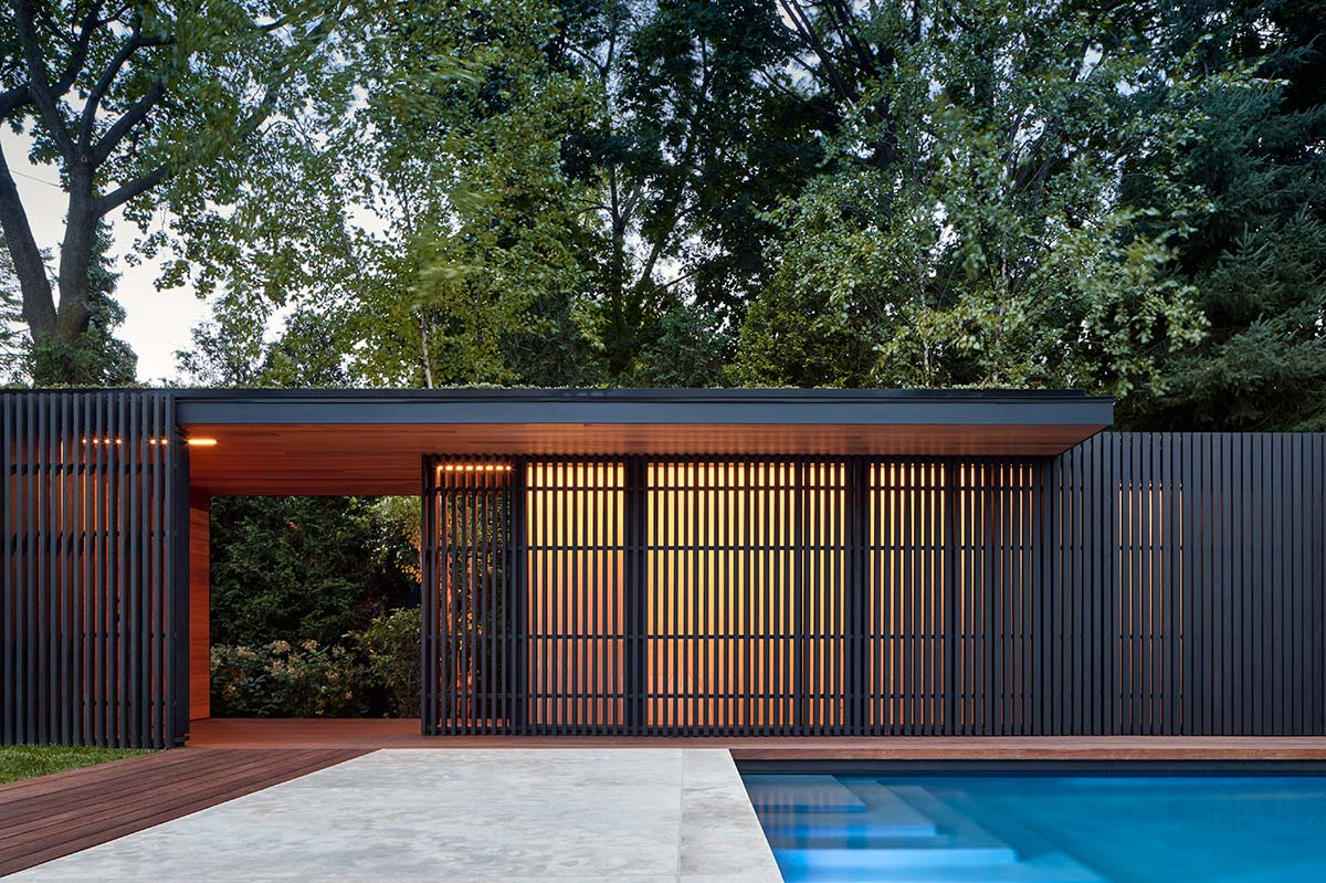 Pool pavilion by Amantea Architects on TheModernist.House