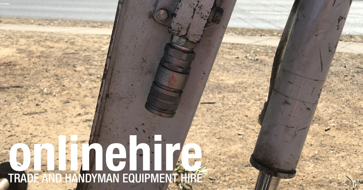 At Online Hire our 1.9 tonne mini excavators can have auger power heads or breakers attached.