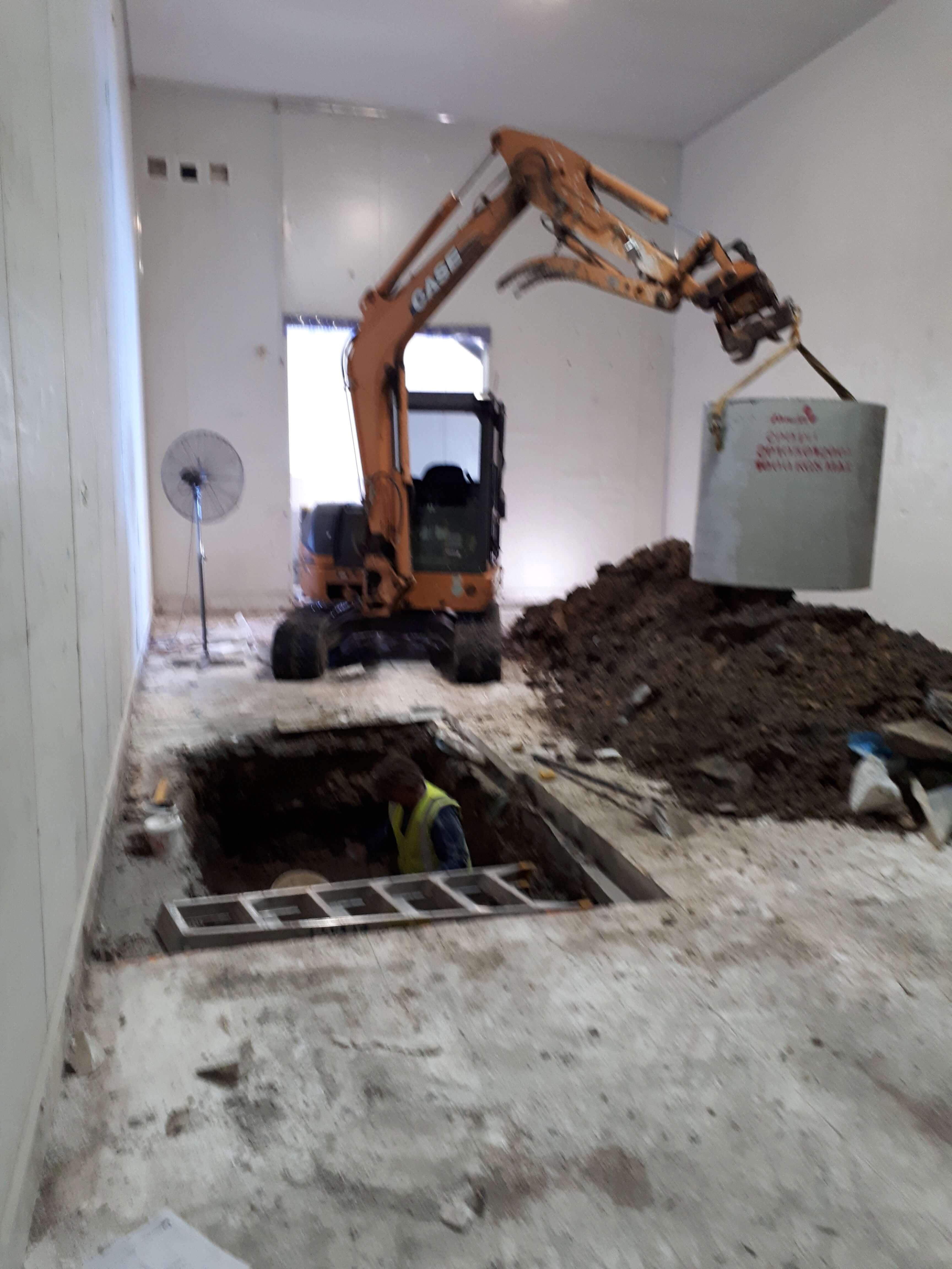 Sewer tank installation in Pet Brands Factory Yatala.
