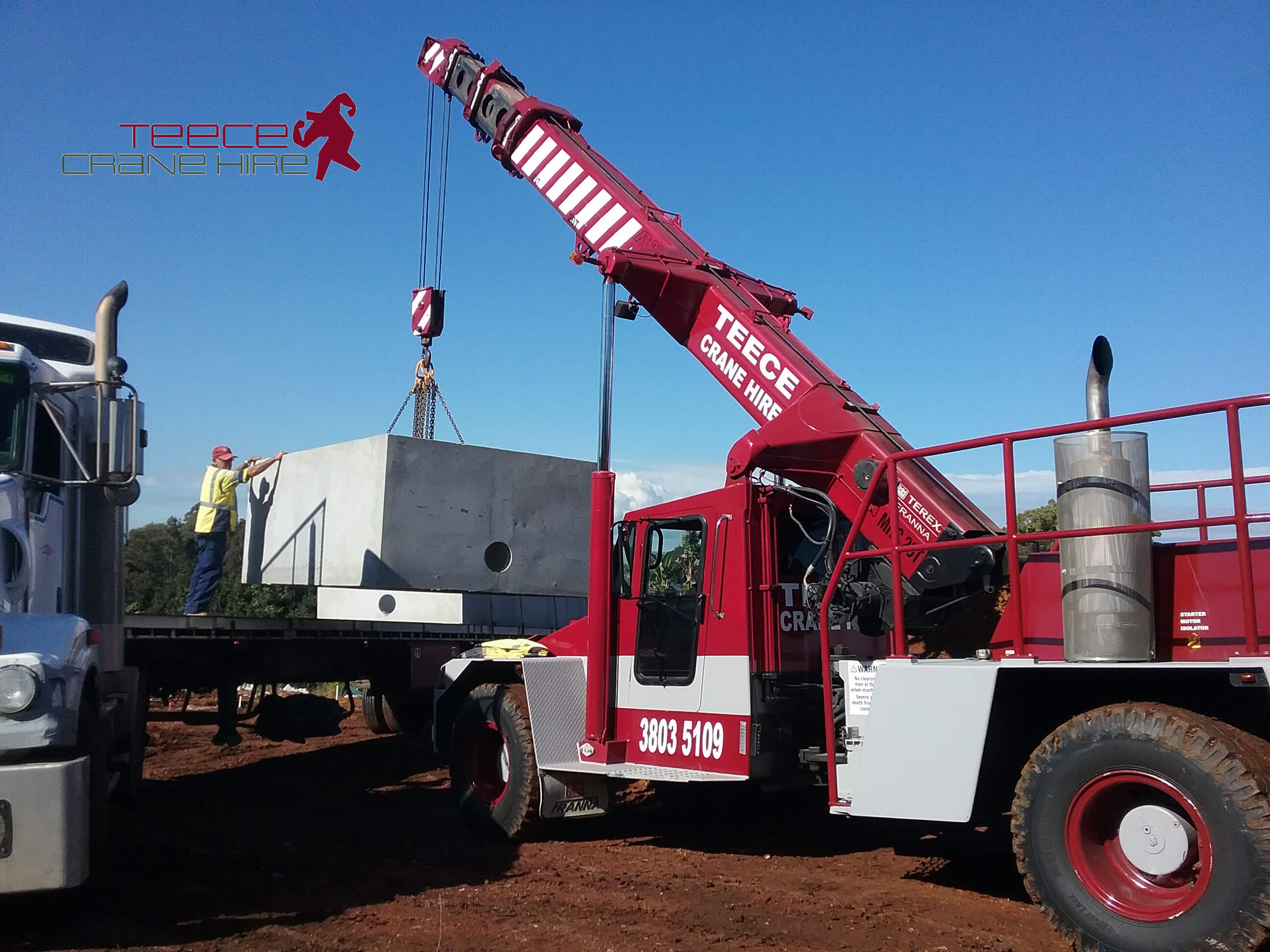 Teece Crane Hire - Hire On Site Constructing Townhouses In Brisbane 3 - Brisbane