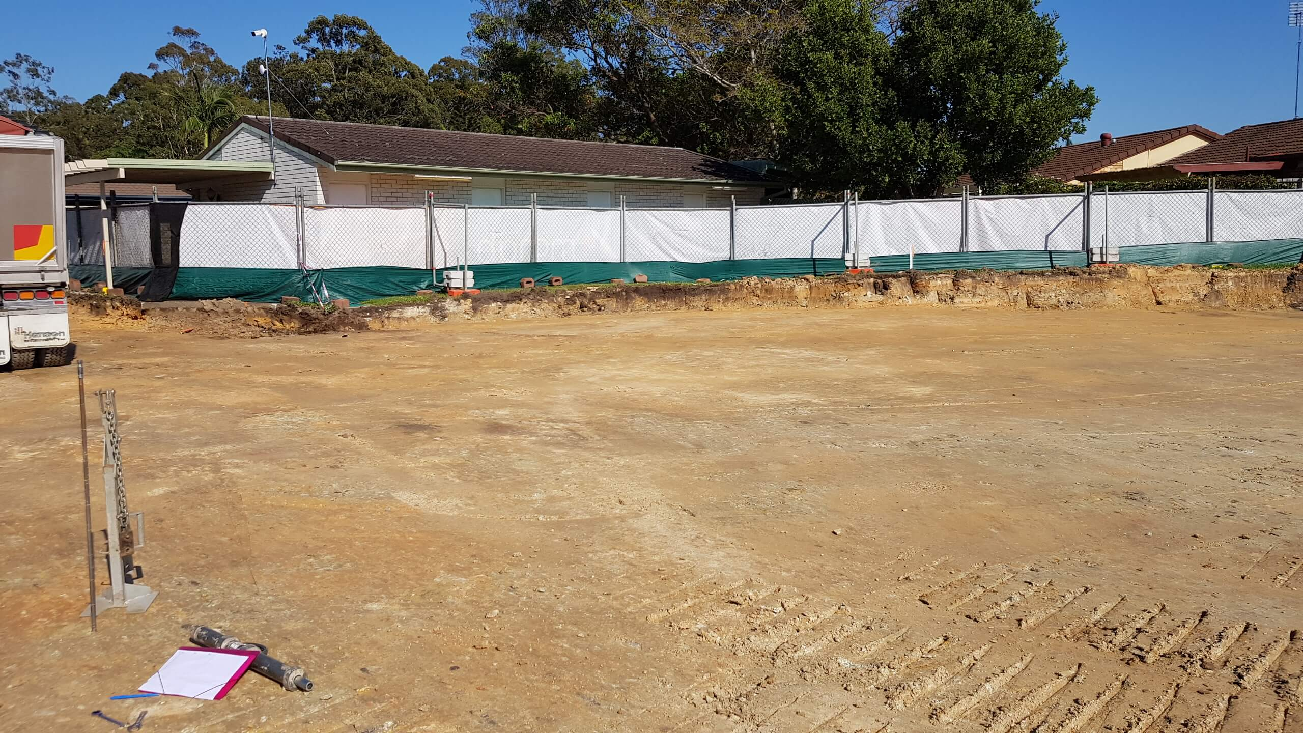 Cleared and graded site