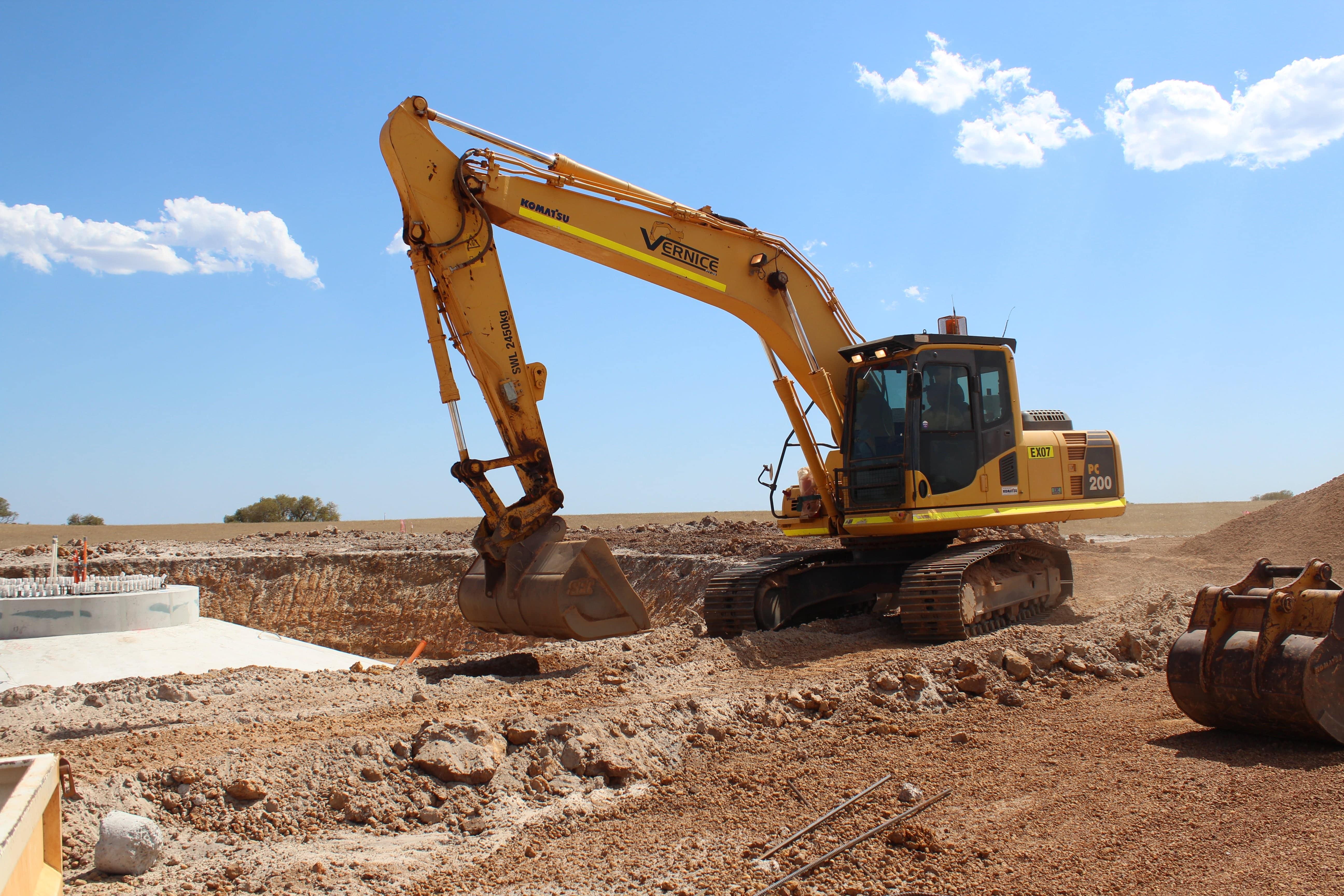 20 t excavator hire vernice western australia