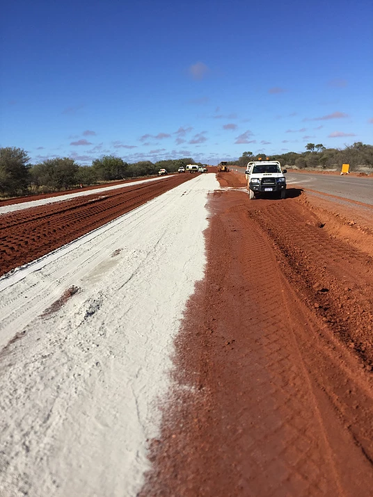 Fivestar Earthmoving grading project frosted over