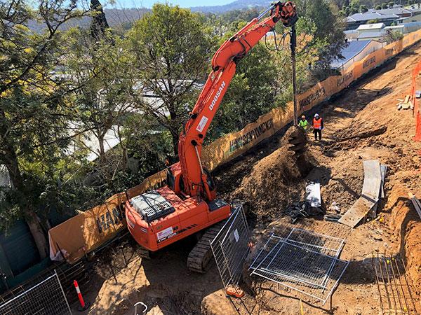 A-P-Delaney-Excavator-Auger-Attachment-Residential-Subdivision-Excavator-Hire-residential-subdivision-albury