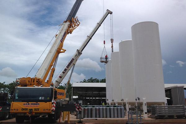 A.M. Cranes and Rigging all terrain crane hire building construction darwin