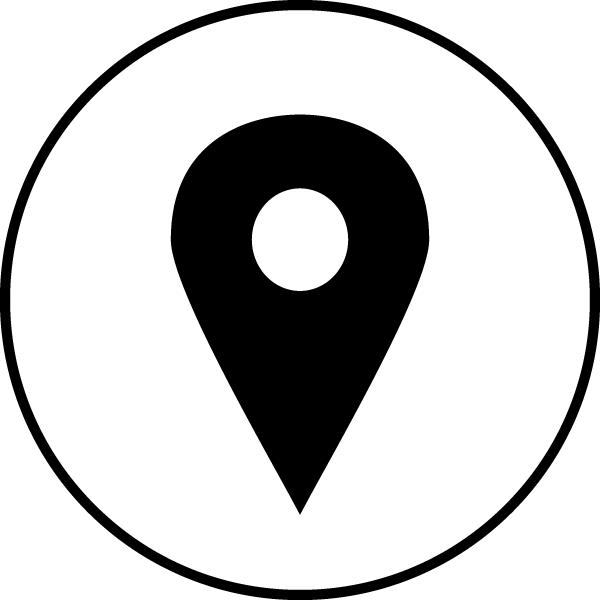 Address pin Icon Circle