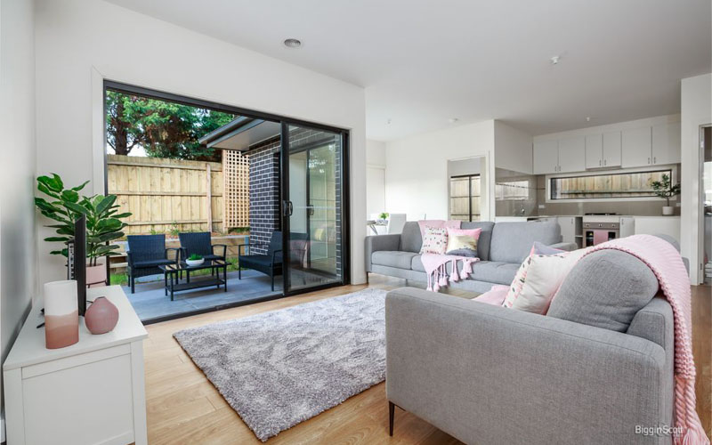 Leather furnished living room