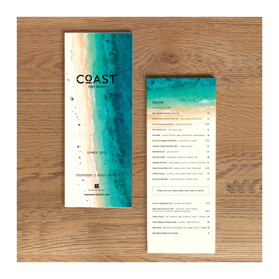 Coast menu