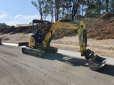 Armpell-Civil-13T-Excavator-bulk-earthworks-Batemans-Bay