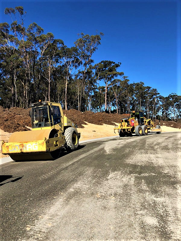 Armpell-Civil-Roller-Grader-road-works-Eurobodalla