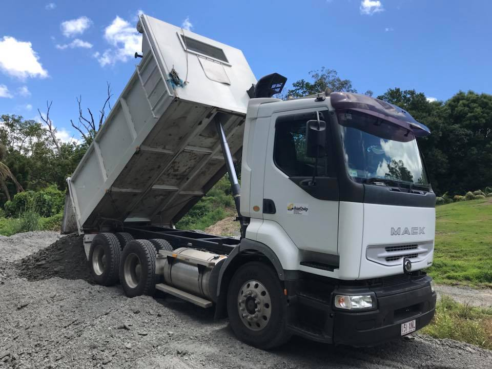 AusQuip Plant Hire Tipper Truck Hire
