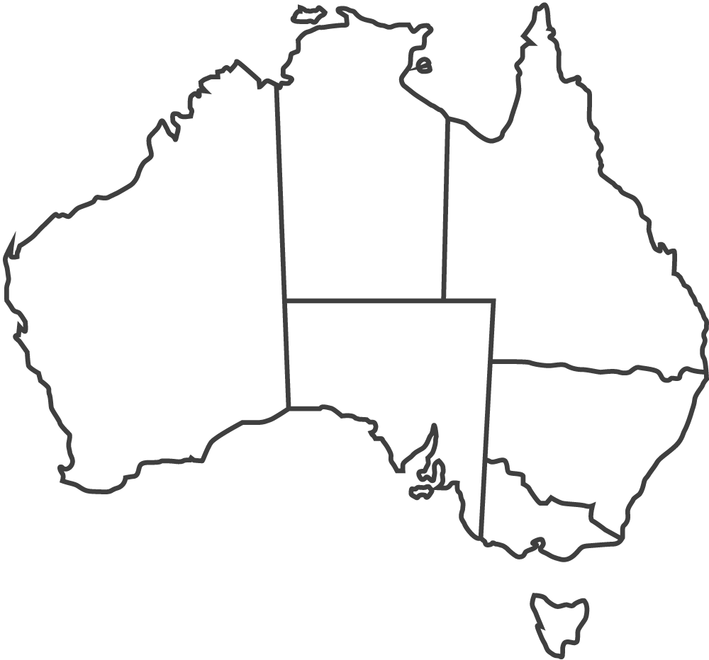 Australia-Map-Grey-Outline