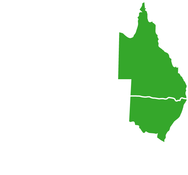 Australia-Map-White-Outline-QLD-NSW-Green-land-clearing-mulching-kempsey