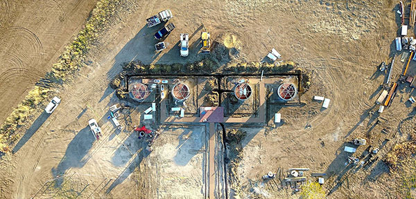 Drone Shot of work site
