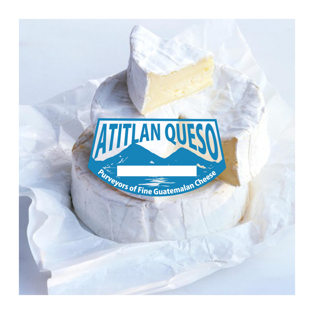 Atitlan Queso cheese logo and product shot