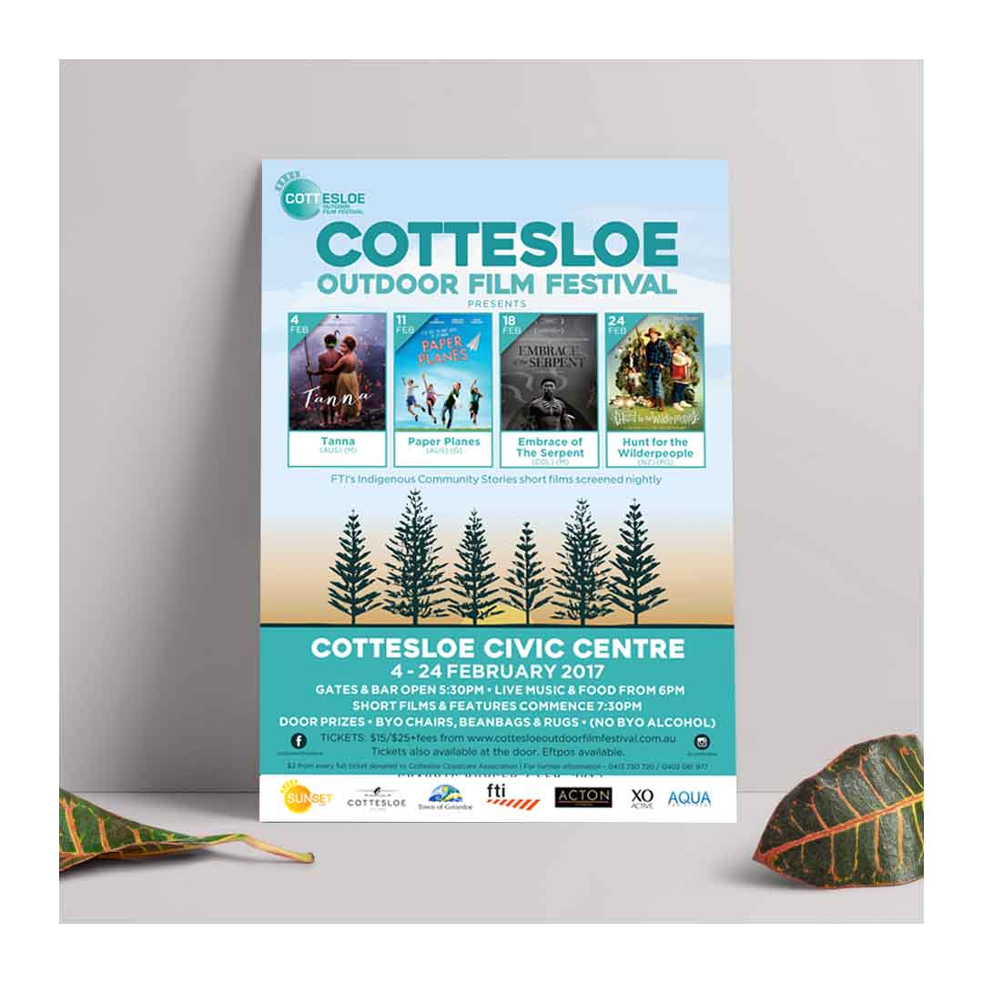 Cottesloe Outdoor Film Festival poster