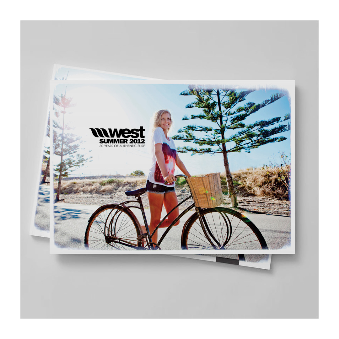 Surfing products company poster