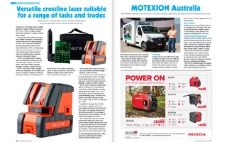 aLine CL-5D Crossline Laser Article BCM For Tradies May-June 19
