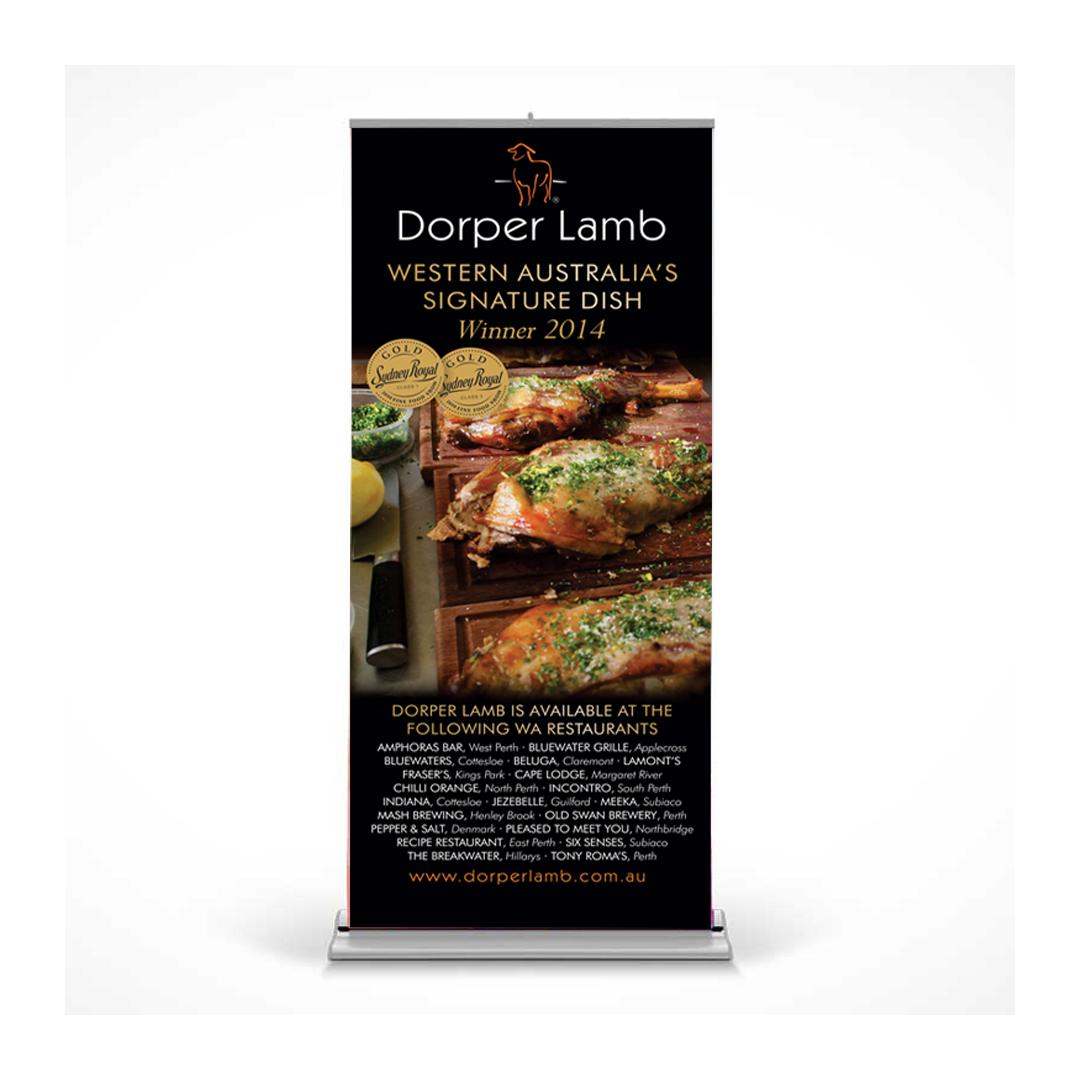 Dorper Lamb pull-up banner