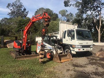Excavator and truck hire Queensland
