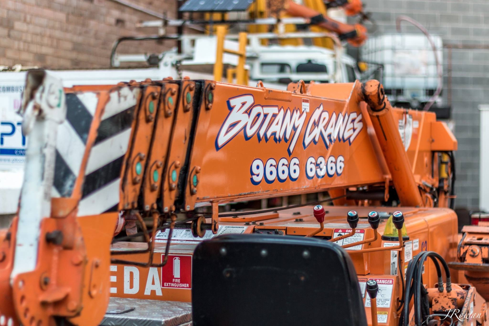 Botany Cranes Logo on Crane Fleet