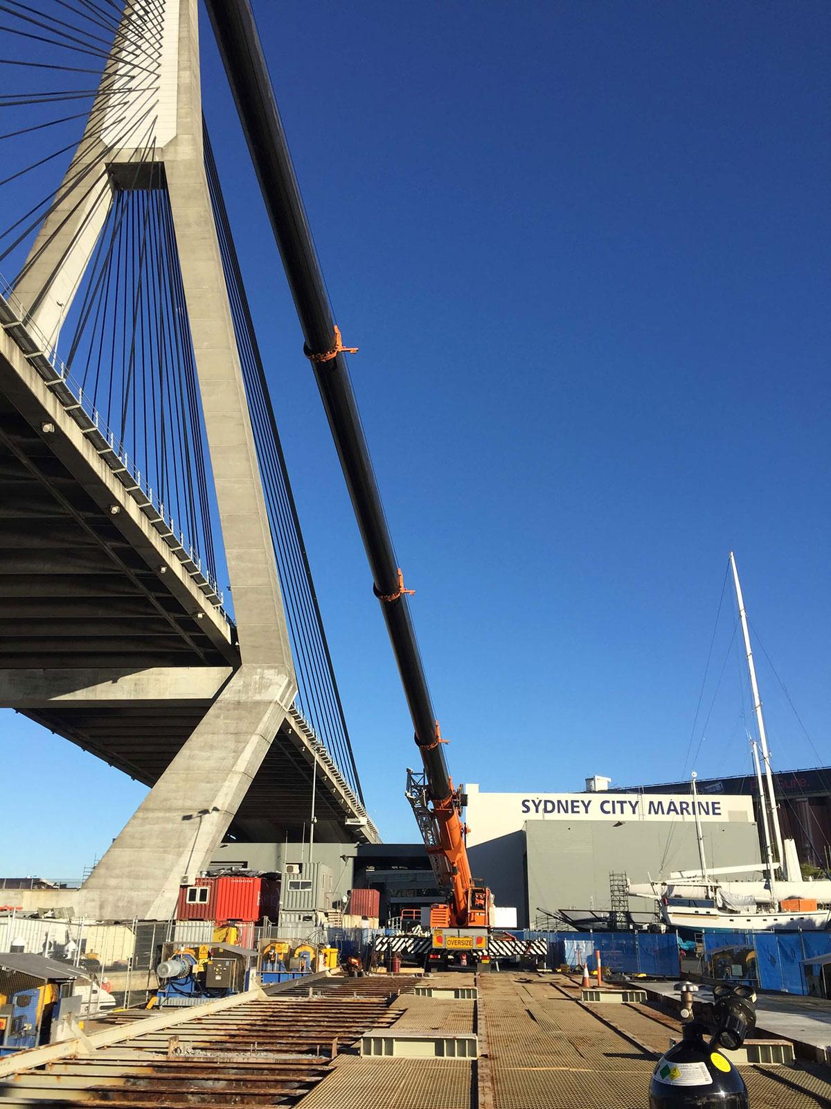 Botanny Cranes franna crane bridge lift