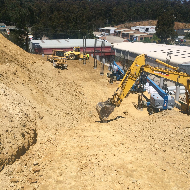 Armpell-Civil-road-works-excavator-Batemans-Bay
