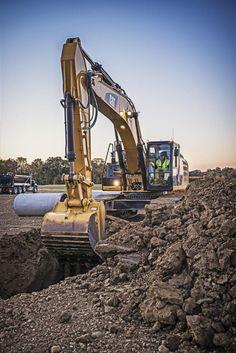 Burns Equipment Group excavation CAT Excavator