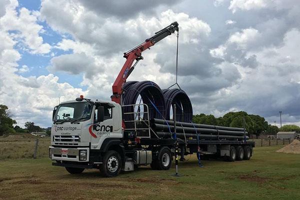 CNC-Cartage-Transport-Solutions-Extendable-Trailer-Crane-Truck-Hire-Narangba-7