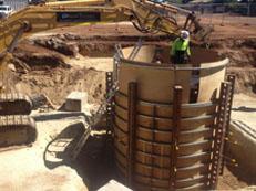 Cassion Shaft Construction 10 Meters Deep Pump Station