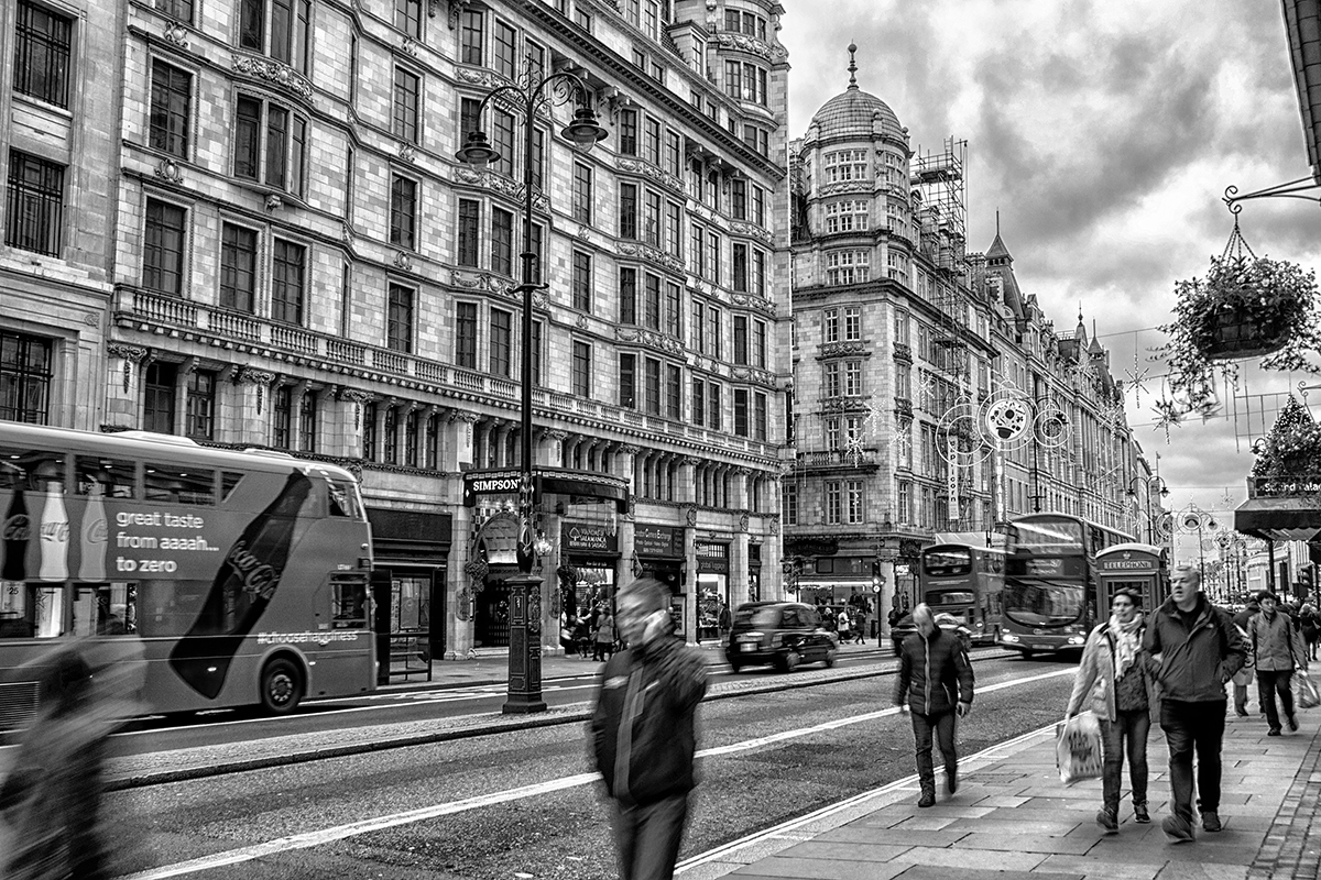 A black and white photograph of London by Norwich based photographer P Carver