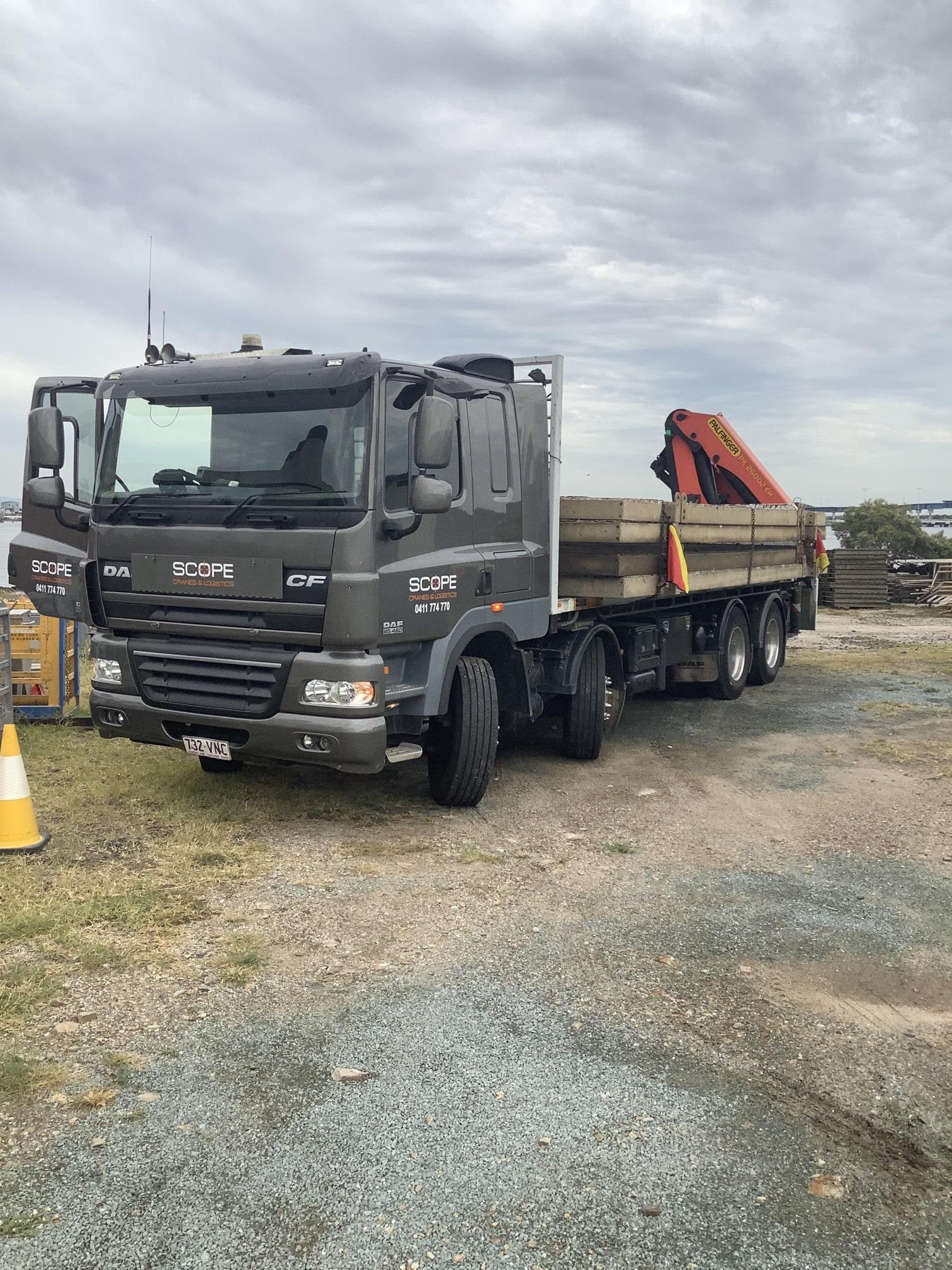 scopecranes crane truck hire brisbane