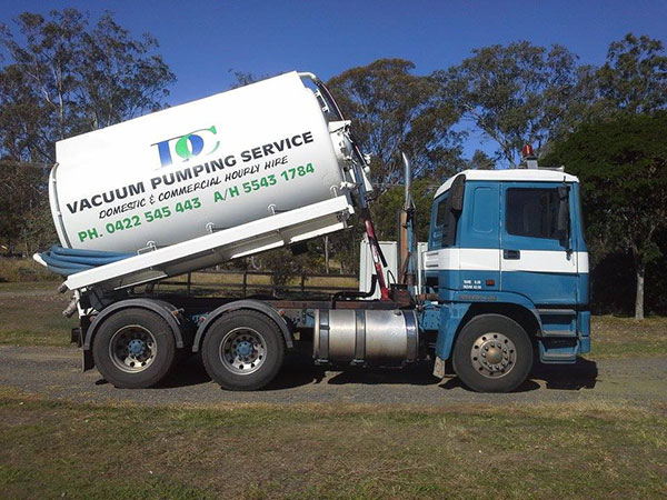DC Vacuum Pumping Services-woodhill- Truck