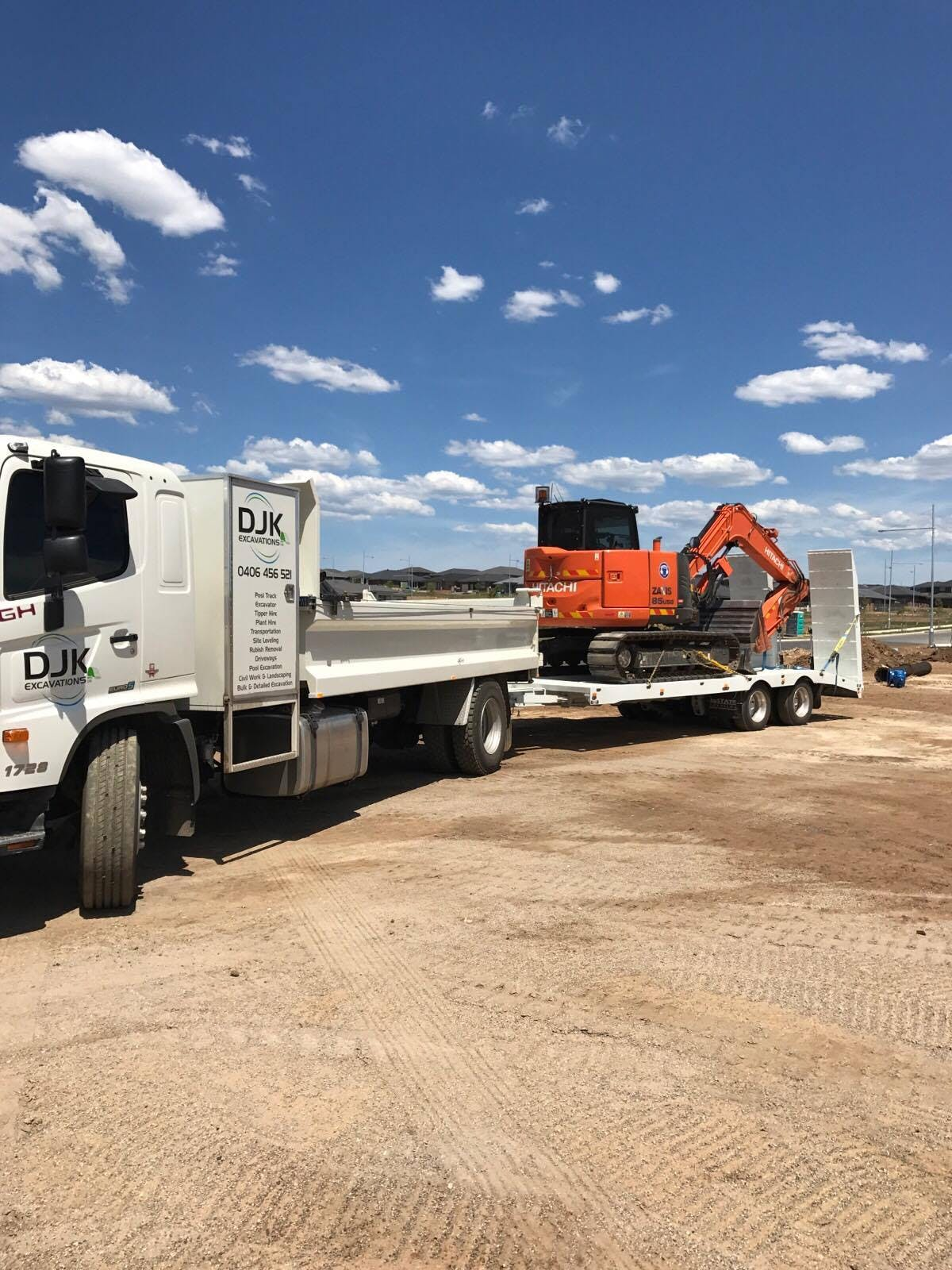 DJK Excavations - Mini Excavator and Float hire Sydney