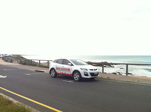 Dial-A-Digger-service-car-beach