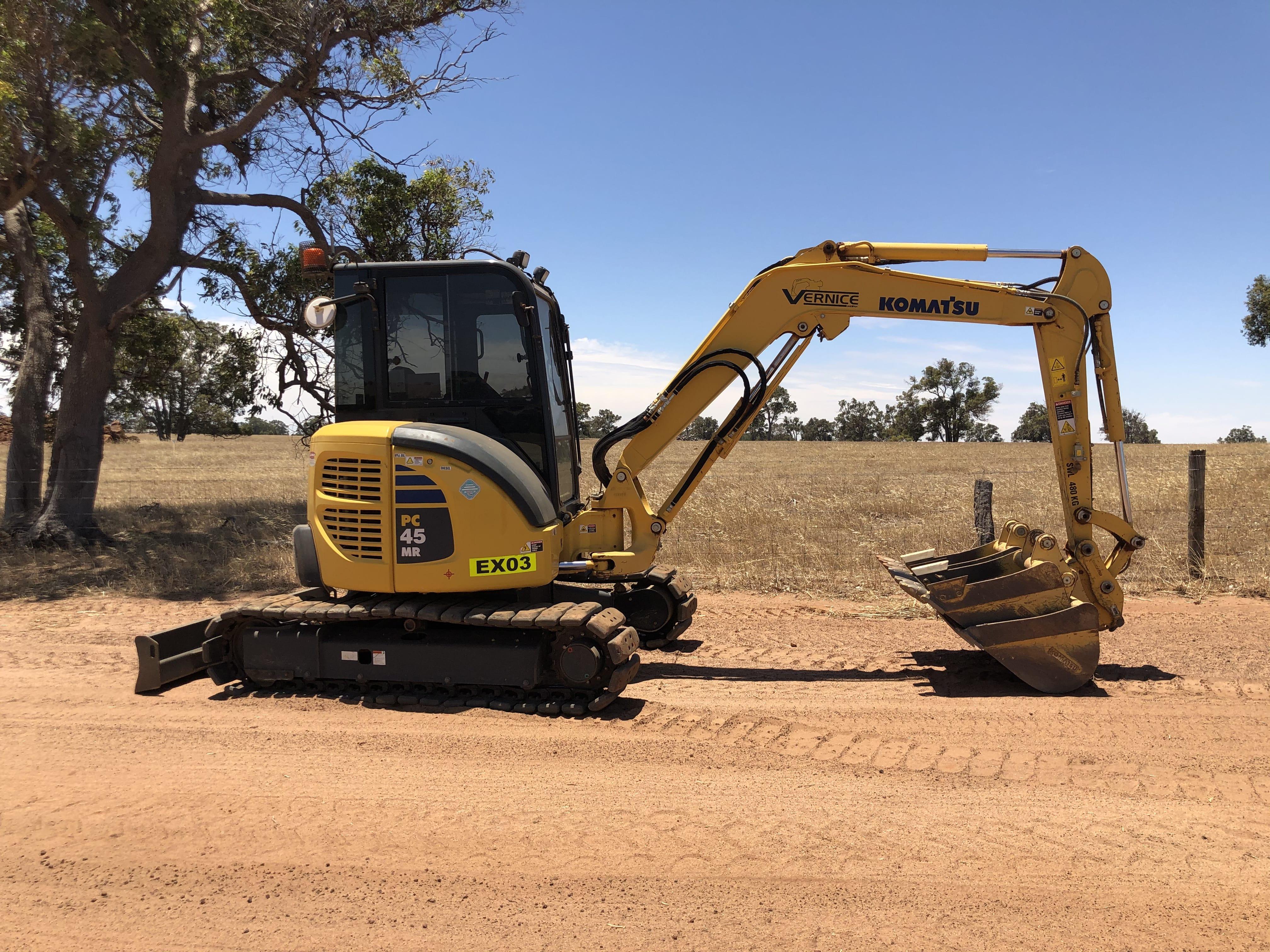 5 t excavator hire vernice western australia