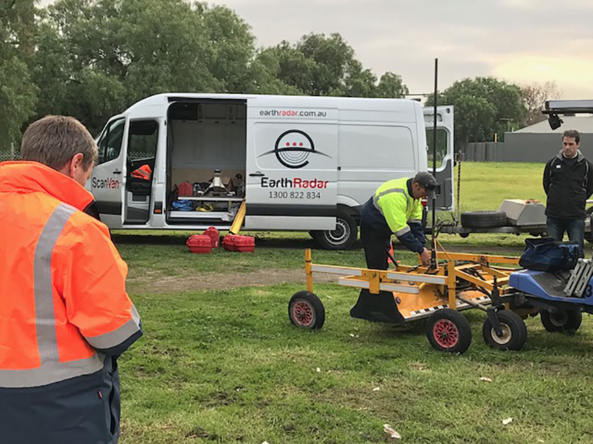 Earth Radar Operators and Van on site 1