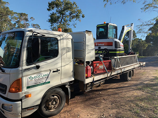 Eco-Land-Clearing-Truck-and-Excavator-Margaret-River