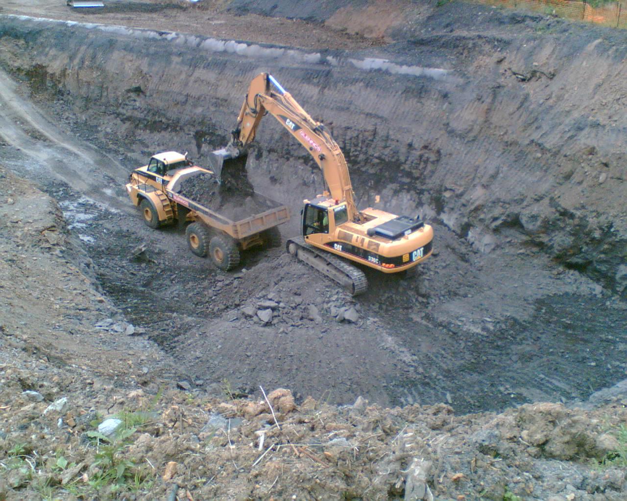 Edgewood deep excavation