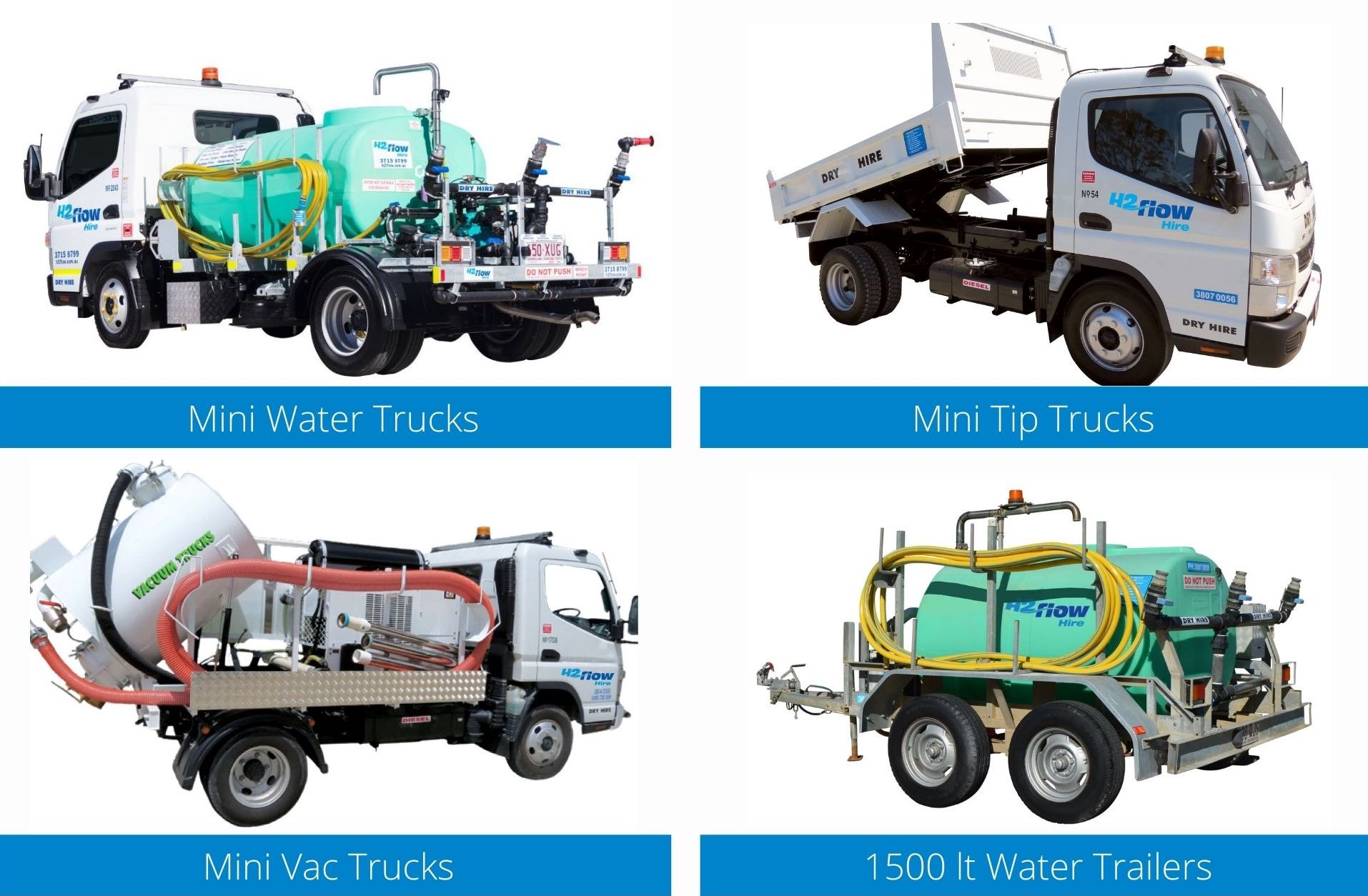H2flow Hire Dry Hire Equipment