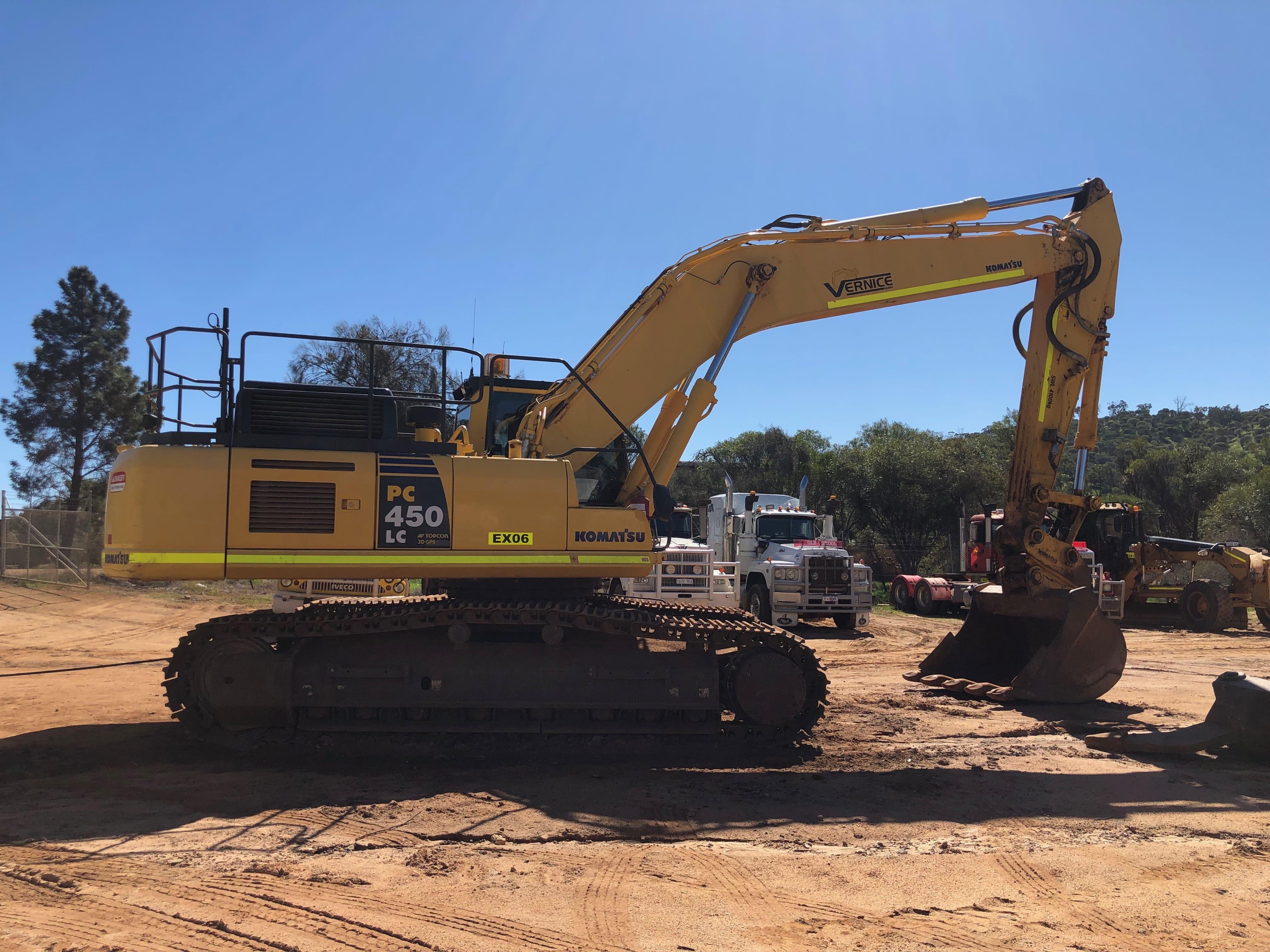 45 t excavator hire vernice western australia