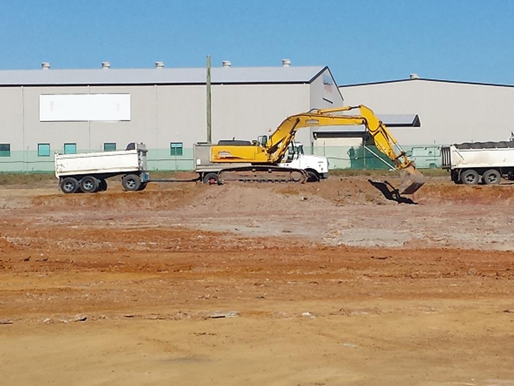 Excavator excavation
