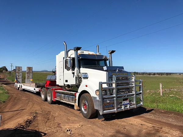 Fletcher-Bros-Solutions-transport-road-truck-on-site-plant-equipment-hire-melbourne