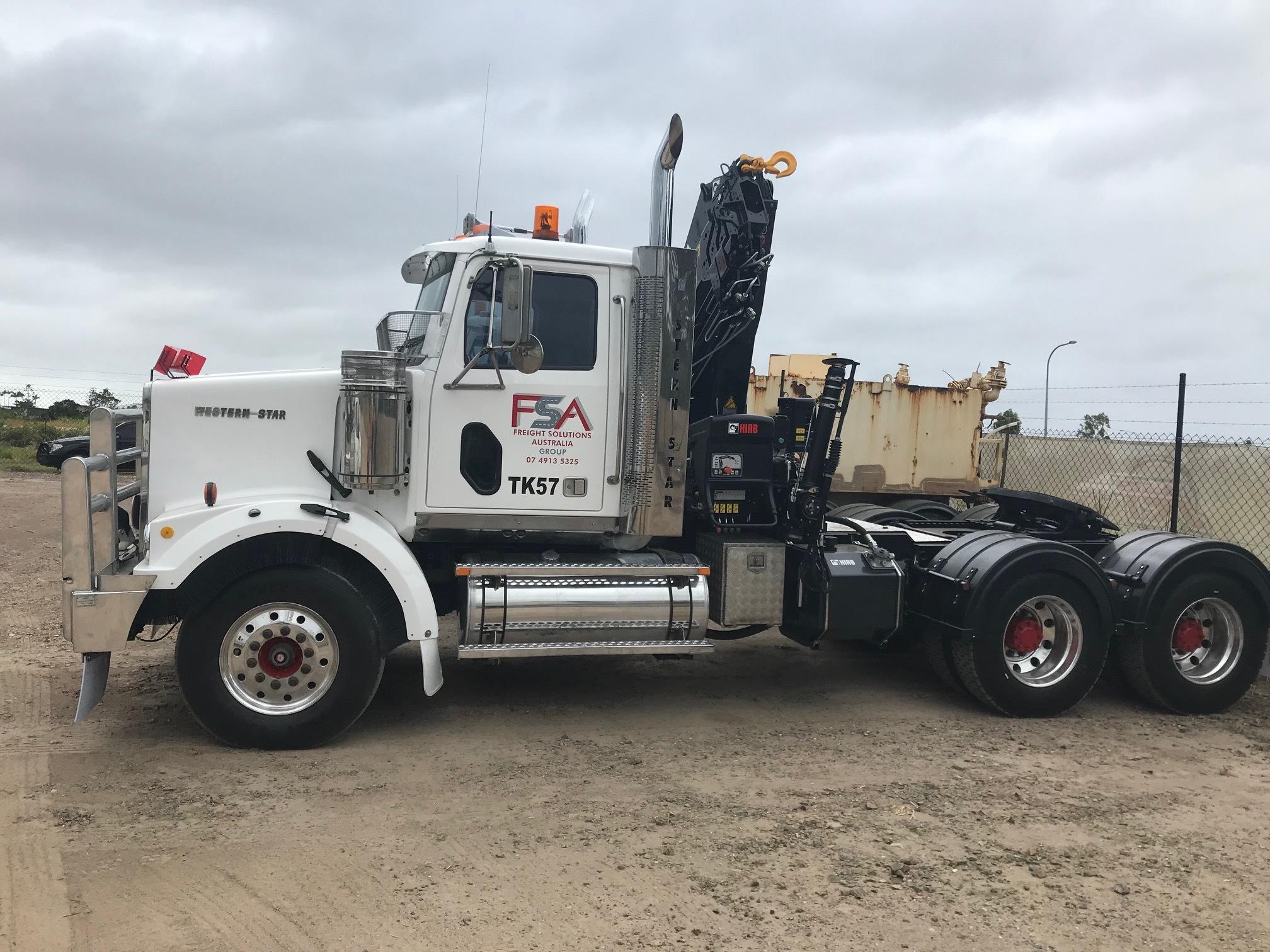 Freight Solutions Australia crane truck 1
