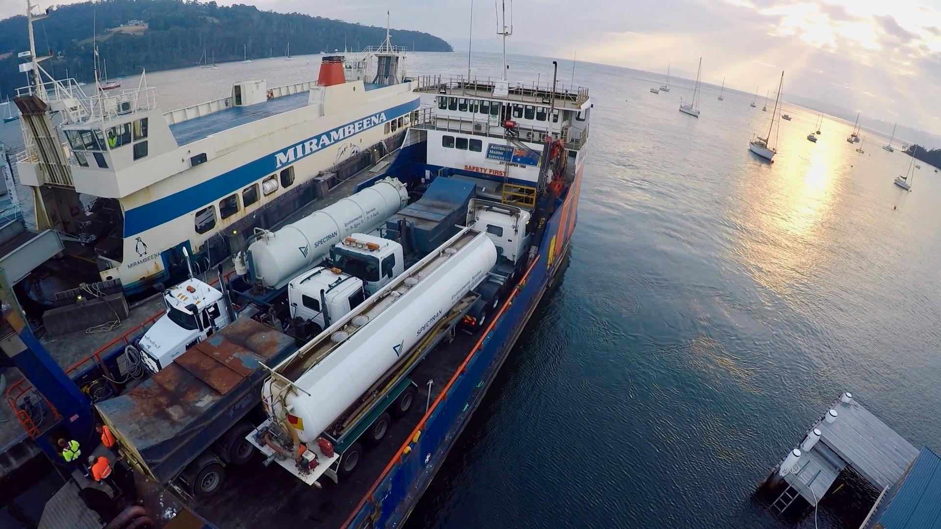 Spectran-Group-Tipper-Ferry-Transport-Hobart