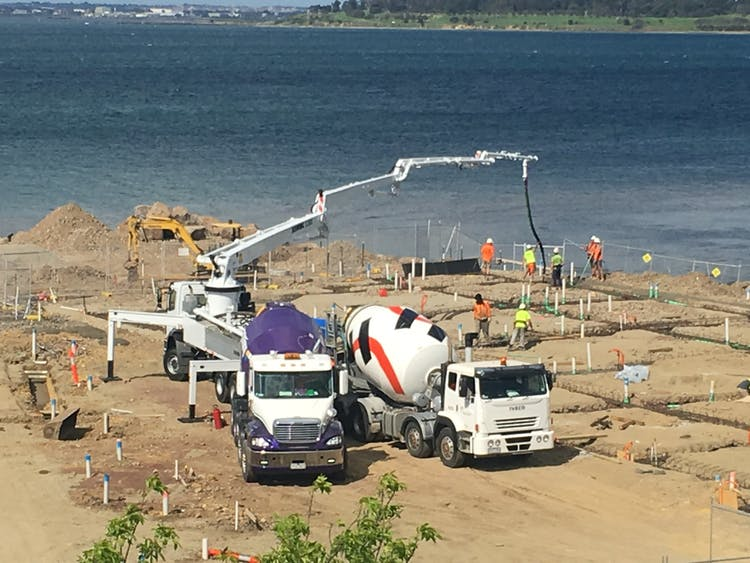 Geelong Concrete Pumping - Rippleside Quay Concrete Pump Service Hire - Geelong