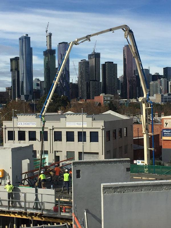 Geelong-Concrete-Pumping-Carlton-Apartments-Concrete-Pump-Service-Hire-Geelong