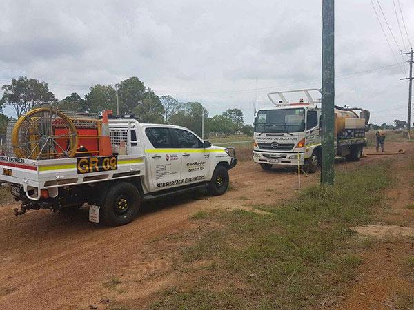 Geo Radar Australia Ute and Sucker Truck Bundaberg
