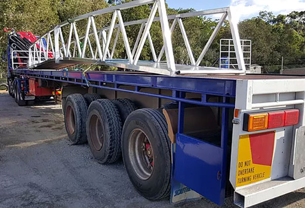 Gold Coast Crane Trucks Flat Deck Trailer Nerang